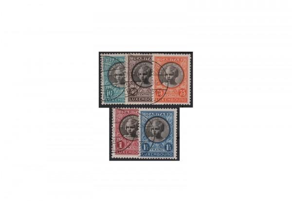 Luxemburg Kinderhilfe 1928 Michel-Nr. 208/212 gestempelt