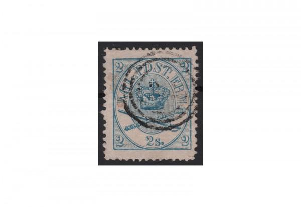 Dänemark Freimarke: Kroninsignien 1864/70 DNK Michel Nr. 11 gestempelt