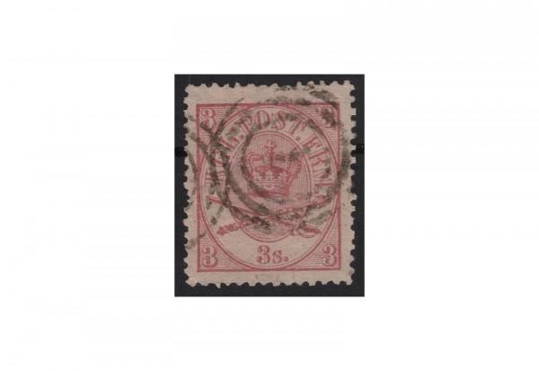 Dänemark Freimarke: Kroninsignien 1864/70 DNK Michel Nr. 12 gestempelt