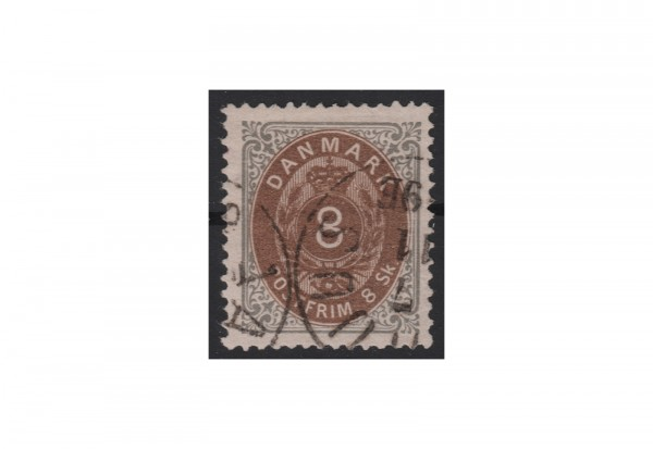 Dänemark Freimarke: Kroninsignien 1870/72 DNK Michel Nr. 19 gestempelt