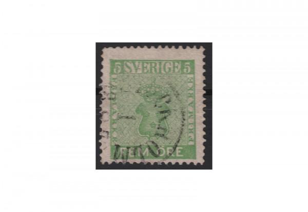 Schweden Freimarke: Reichswappen 1858 SWE Michel Nr. 7 gestempelt