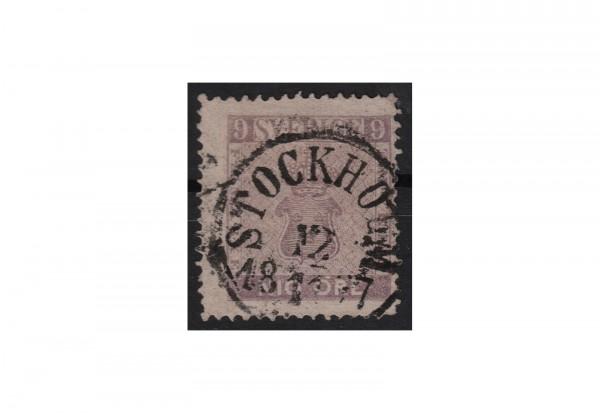 Schweden Freimarke: Reichswappen 1858 SWE Michel Nr. 8 gestempelt