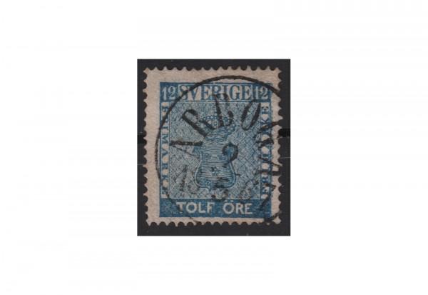 Schweden Freimarke: Reichswappen 1858 SWE Michel Nr. 9 gestempelt