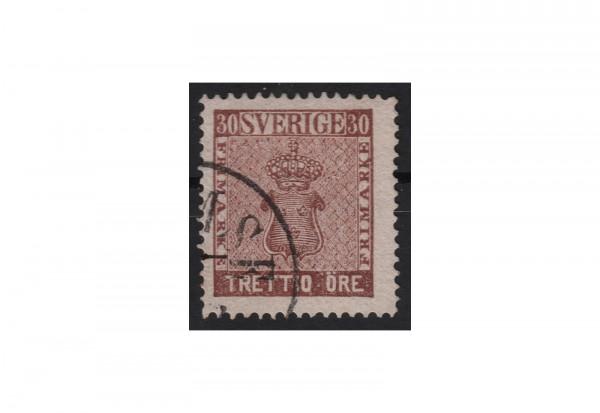 Schweden Freimarke: Reichswappen 1858 SWE Michel Nr. 11 b gestempelt