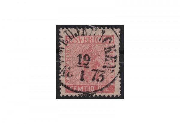 Schweden Freimarke: Reichswappen 1858 SWE Michel Nr. 12 a gestempelt