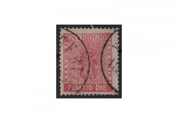 Schweden Freimarke: Reichswappen 1858 SWE Michel Nr. 12b gestempelt