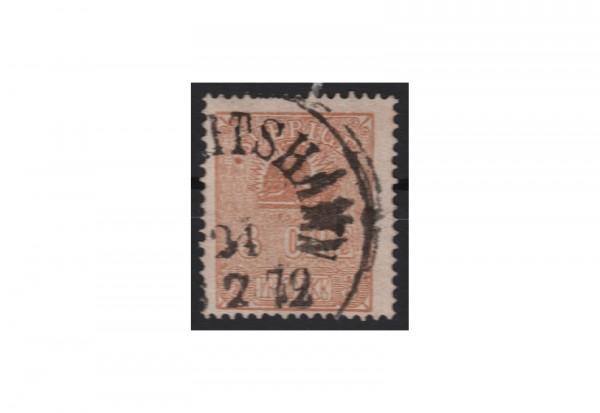Scherden Freimarke: Kleiner Löwe 1862/1863 SWE Michel Nr. 14 gestempelt