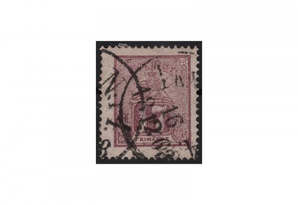 Schweden Freimarke: Kleiner Löwe 1866/72 SWE Michel Nr. 15 gestempelt