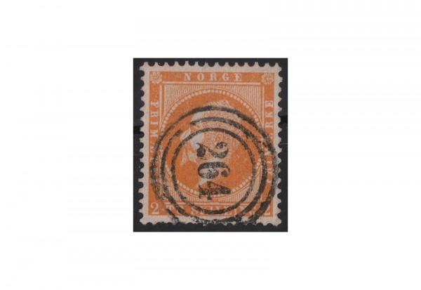 Norwegen Freimarke: König Oskar I. 1856/7 NOR Michel Nr. 2 gestempelt
