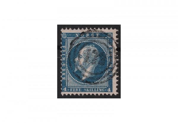Norwegen Freimarke: König Oskar I. 1856/7 NOR Michel Nr. 4 gestempelt