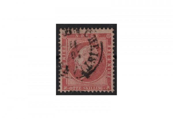 Norwegen Freimarke: König Oskar 1856/57 NOR Michel Nr. 5 gestempelt
