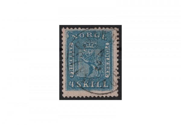 Norwegen Freimarke: Wappen 1863/67 NOR Michel Nr. 8 gestempelt