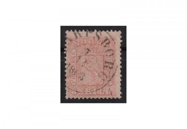 Norwegen Freimarke: Wappen 1863/1867 NOR Michel Nr. 9 gestempelt