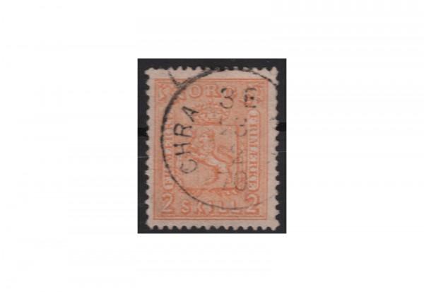 Norwegen Freimarke: Wappen 1867/8 NOR Michel Nr. 12 gestempelt