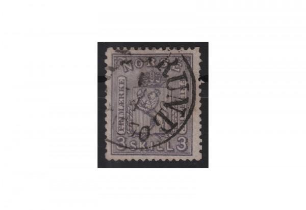 Norwegen Freimarke: Wappen 1867/68 NOR Michel Nr. 13 gestempelt