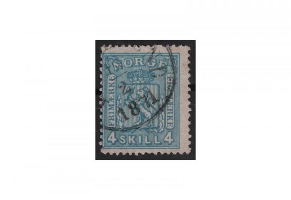Norwegen Freimarke: Wappen 1867/68 NOR Michel Nr.14 gestempelt