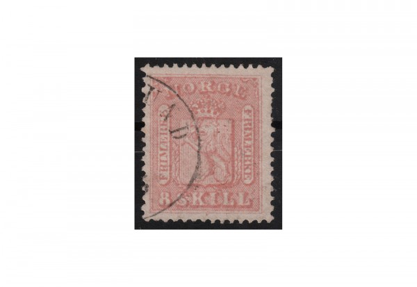 Norwegen Freimarke: Wappen 1867/8 NOR Michel Nr. 15a gestempelt