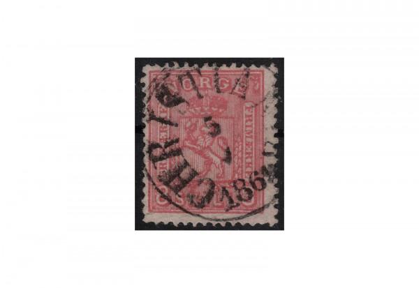 Norwegen Freimarke: Wappen 1867/68 NOR Michel Nr. 15b gestempelt