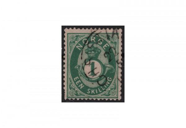Norwegen Freimarke: Posthorn 1872 NOR Michel Nr. 16b gestempelt