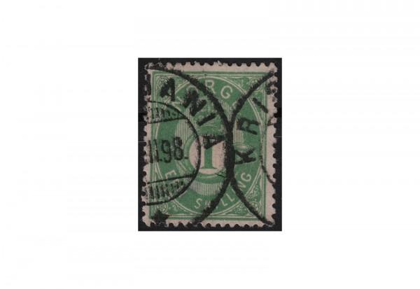 Norwegen Freimarke: Posthorn 1872 NOR Michel Nr. 16c gestempelt
