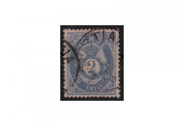 Norwegen Freimarke: Posthorn 1872 Michel Nr. 18 gestempelt