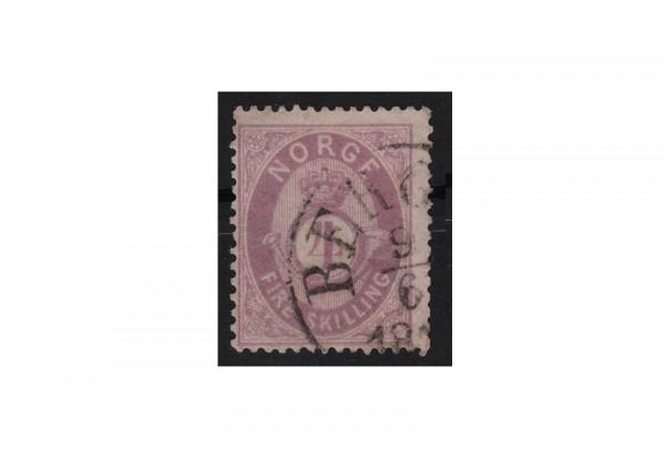 Norwegen Freimarke: Posthorn 1872 NOR Michel Nr. 19 gestempelt