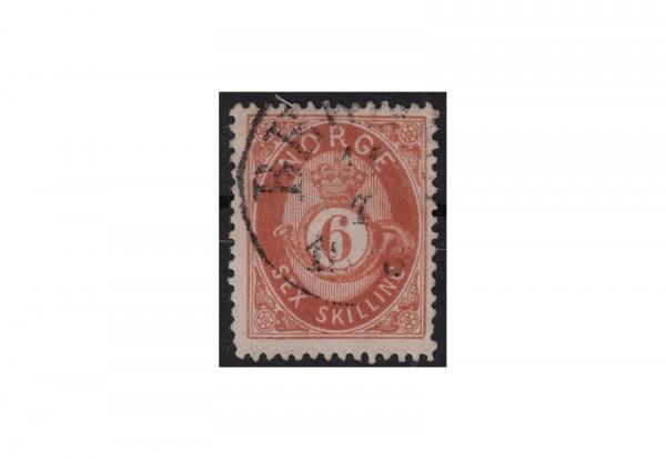 Norwegen Freimarke: Posthorn NOR Michel Nr. 20 gestempelt