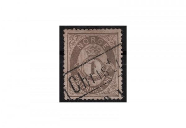 Norwegen Freimarke: Posthorn 1877/78 NOR Michel Nr. 22 gestempelt
