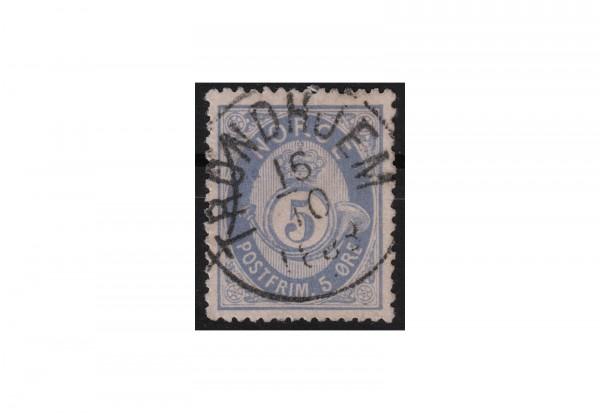 Norwegen Freimarken: Posthorn 1877/8 NOR Michel Nr. 24a gestempelt