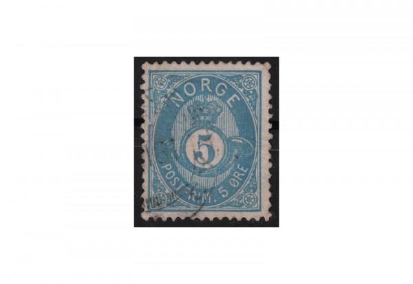 Norwegen Freimarke: Posthorn 1877/78 NOR Michel Nr. 24b gestempelt