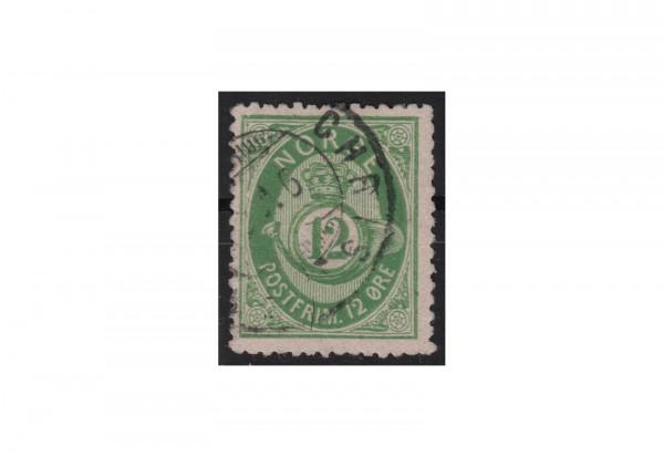 Norwegen Freimarke: Posthorn 1877/78 NOR Michel Nr. 26 gestempelt