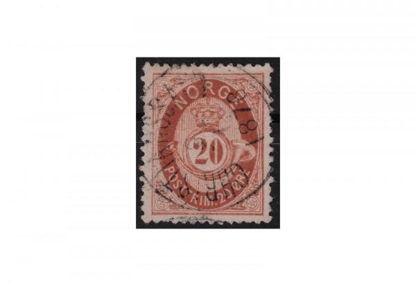 Norwegen Freimarken: Posthorn 1877/78 NOR Michel Nr. 27 gestempelt
