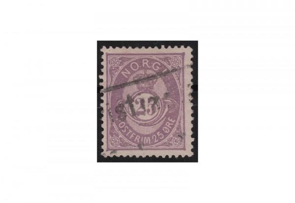 Norwegen Freimarke: Posthorn 1877/78 NOR Michel Nr. 28 gestempelt