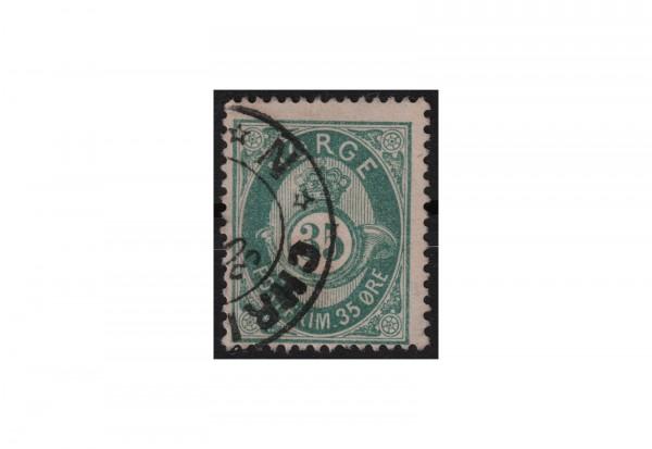 Norwegen Freimarke: Posthorn NOR Michel Nr. 29 gestempelt
