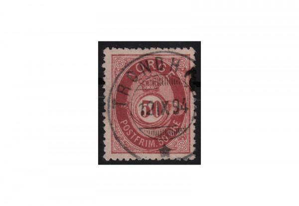 Norwegen Freimarke: Posthorn 1877/78 NOR Michel Nr. 30 gestempelt