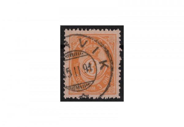 Norwegen Freimarke: Posthorn 1882/83 NOR Michel Nr. 35 gestempelt