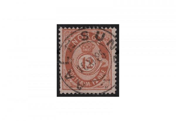 Norwegen Freimarke: Posthorn 1882/85 NOR Michel Nr. 39 gestempelt