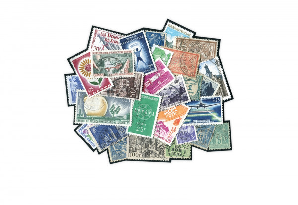 1000 verschiedene Briefmarken Frankreich postfrisch und gestempelt