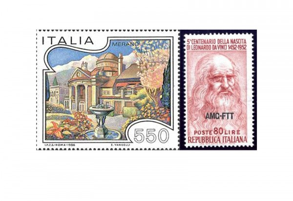 Briefmarken Italien 500 Marken postfrisch und gestempelt