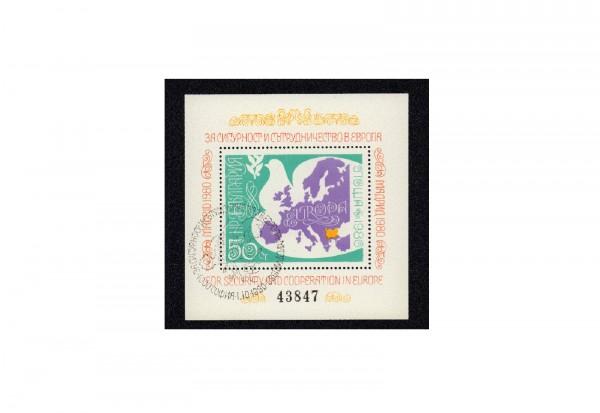 Briefmarken Bulgarien 1980 Madrid Konferenz Block 106 gestempelt