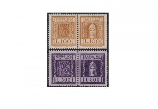 Briefmarken Italien Zusammendrucke Börsenmarken 1956 gestempelt