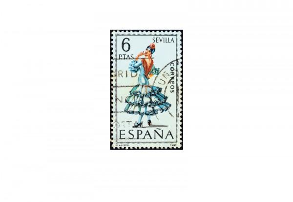 Briefmarken Spanien 100 verschiedene Marken postfrisch und gestempelt