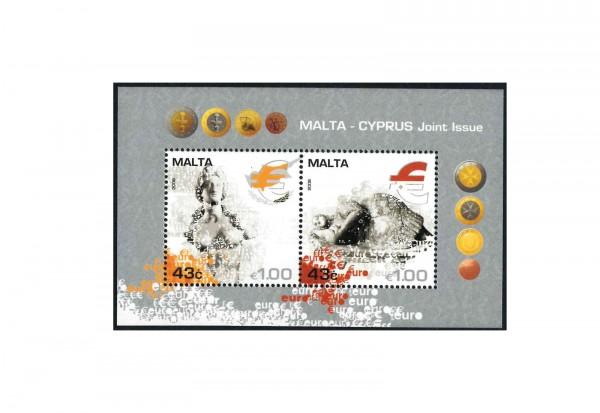 Briefmarken Malta Cyprus Joint Issue 2008 Block 43 postfrisch