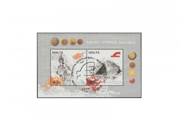 Briefmarken Blockausgabe Zypern Malta Cyprus Joint Issue 2008 Block 28 gestempelt