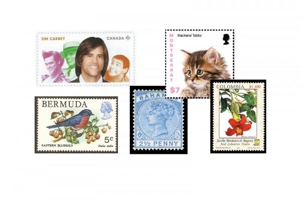 Briefmarken Amerika 300 Marken postfrisch und gestempelt