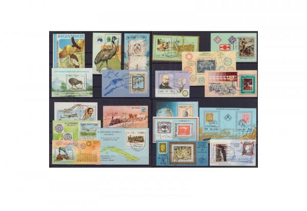 40 verschiedene Blocks Kuba auf großen Steckkarten gestempelt
