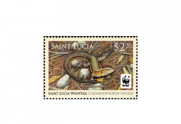 Briefmarken St. Lucia 50 verschiedene Marken postfrisch und gestempelt