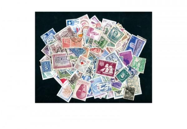 Chile 200 verschiedene Briefmarken