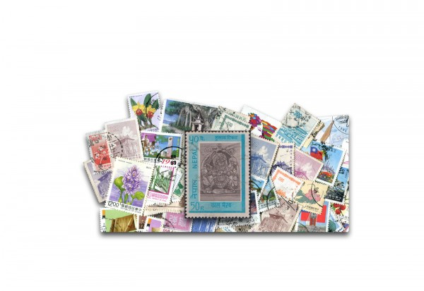 Briefmarken Nepal 200 verschiedene Marken
