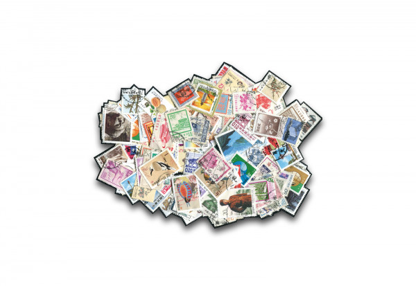 Briefmarken China 200 Marken postfrisch und gestempelt